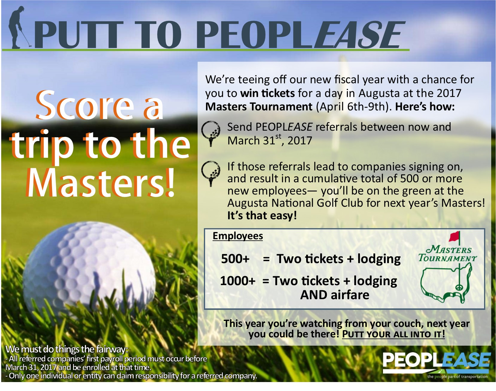 Win a Trip to the Masters